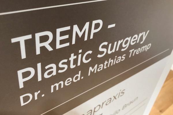 Beschriftung Arztpraxis